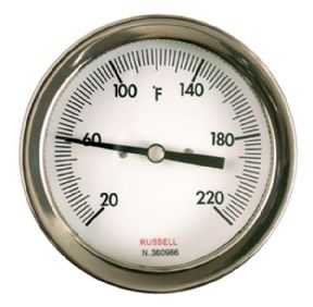 Co-axial dial thermometer